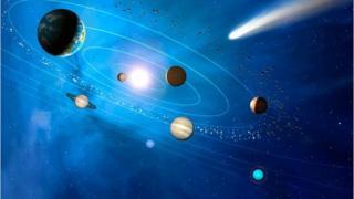 Kometen Illustration