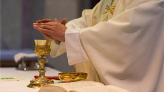 Catholic communion ceremony