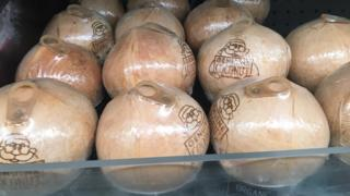 Genuine Coconuts on sale in Sainsbury's in Bristol