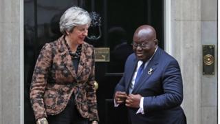 Ààrẹ Akufo-Addo àti Theresa May