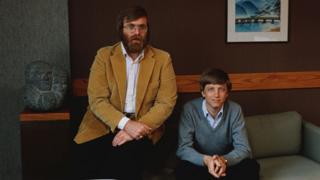 Bill Gates (der.) y Paul Allen