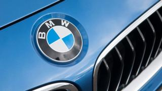 The bonnet and badge of a BMW