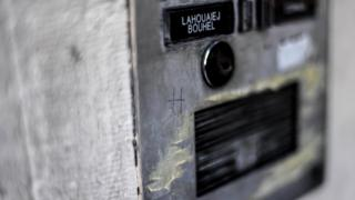 The name of Mohamed Lahouaiej-Bouhlel on the intercom of his apartment building