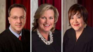Composite image of Justices Loughry, Walker, Workman