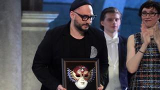 """Кирилл Серебренников с премией """"Золотая Маска"""""""