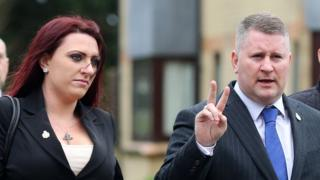 Jayda Fransen (left) and Paul Golding (right)