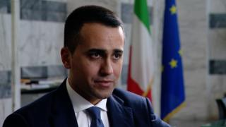 Luigi Di Maio talks to the BBC