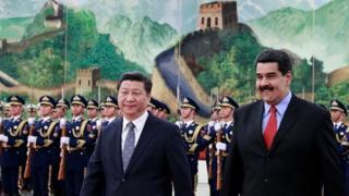 Xi Jingping y Nicolás Maduro