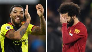 Troy Deeney and Mohamed Salah