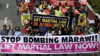 There were protests outside congress on Saturday against the law