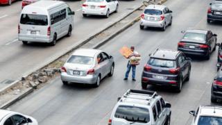 Tráfico congestionado en Ciudad de México.