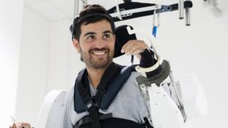 Thibault in the exoskeleton