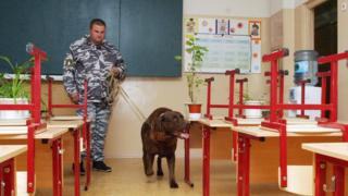 Саперная собака в школе