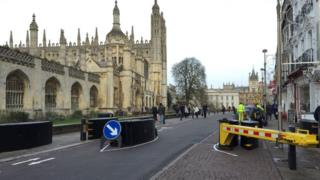 Anti-terror barrier in Cambridge