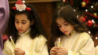 دو کودک مسیحی سوری در دمشق
