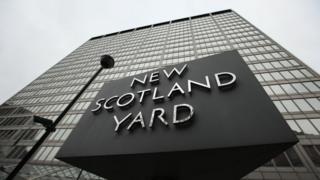 New Scotland Yard revolving sign