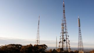 Network masts.