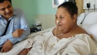 Eman Abd El Aty now weighs 250kg, half of what she was believed to weigh when she arrived in Mumbai