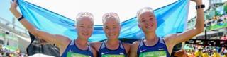 エストニアのマラソン代表、 レイラ、リーナ、リリーのルイク三姉妹。