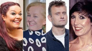 Lisa Riley, Dillie Keane, Hugh Dennis and Anita Harris