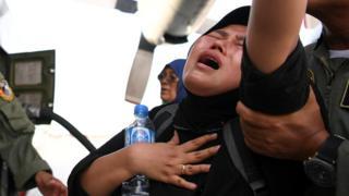 Mujer llorando, Indonesia