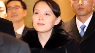 นางสาวคิม โยจอง เดินทางเยือนเกาหลีใต้ครั้งประวัติศาสตร์