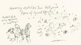 Matilda as a Hollywood Special Effects artist