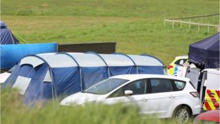 Police and forensics have been called to the Seaford campsite
