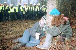 Newbury Bypass protests 1996