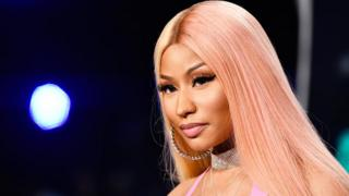 Nicki Minaj at the 2017 MTV Video Music Awards at The Forum in Inglewood, California.