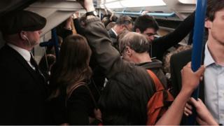 A busy tube train