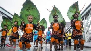 children's day parade at Notting Hill Carnival