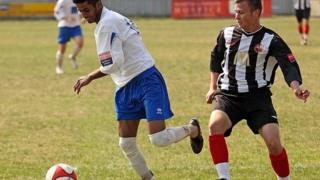 Kevin Malthouse during a match for Tilbury Football Club