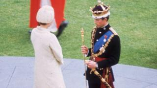 Prince Charles's investiture in Caerrnarfon in 1969