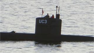Kim Wall on board Peter Madsen's submarine in Copenhagen harbour on 10 August 2017