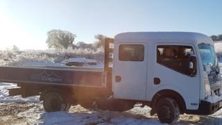 Stolen Skye Marquees truck with its owners in the cab