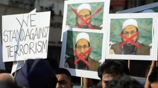 حافظ سعید کے خلاف مظاہرے