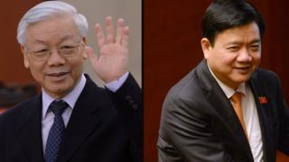 Hai ông Nguyễn Phú Trọng và Đinh La Thăng