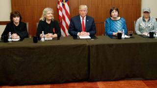 Trump ve Bill Clinton'ı tacizle suçlayan kadınlar
