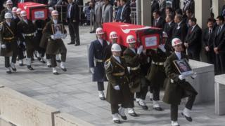 Funerals for victims of Ankara bombing. 19 Feb 2016