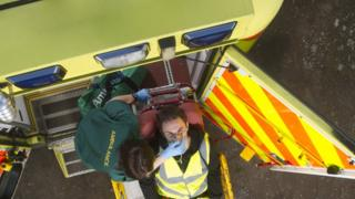 Ambulance and patient
