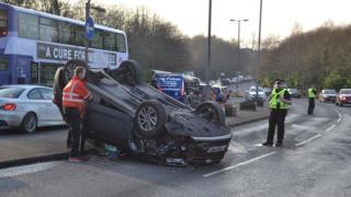 Crash near Rouken Glen Park