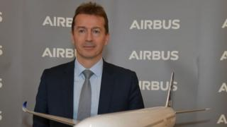 Airbus Chief Executive Officer Guillaume Faury at Airbus' headquarters.