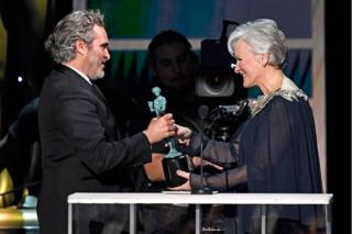 Joaquin Phoenix and Glenn Close