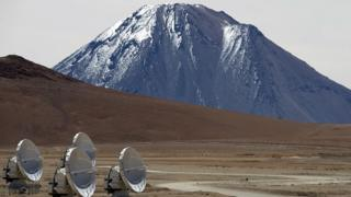 Telescopio ALMA en Chile