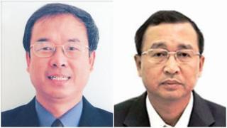 Cựu phó Chủ tịch UBND TP HCM Nguyễn Thành Tài (trái) và Bí thư Quận 2 Nguyễn Hoài Nam