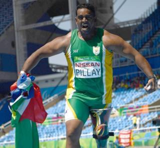 Bronze medallist Tyrone Pillay