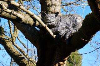 The Cheshire Cat in Oxford Botanic Garden