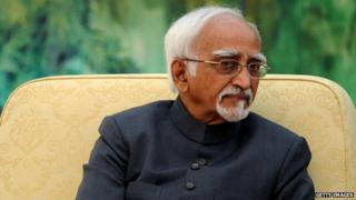 Indian Vice President Hamid Ansari during his visit to China in June 2014.