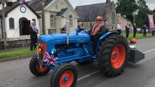 in_pictures Tractors taking part in 12th july parade